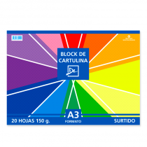Block DL A3 Cartulina de Colores