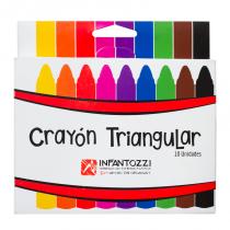 Crayon Triangular x 10 Infantozzi