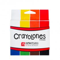 Crayolones Rectangulares x 8 Infantozzi