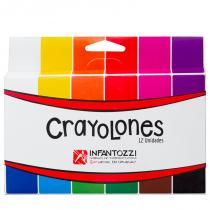 Crayolones Rectangulares x 12 Infantozzi