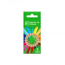 Lapices de Colores Cortos x 6 DL
