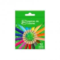 Lapices de Colores Cortos x 12 DL