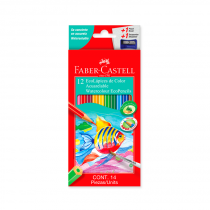Lapices de Colores Acuarelables x 12 Faber