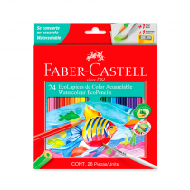 Lapices de Colores Acuarelables x 24 Faber